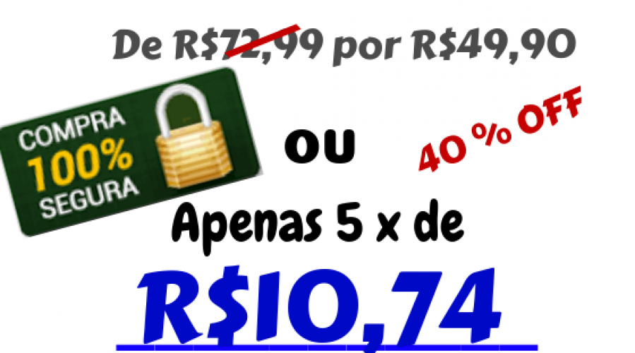 De R$699 por R$397(1)